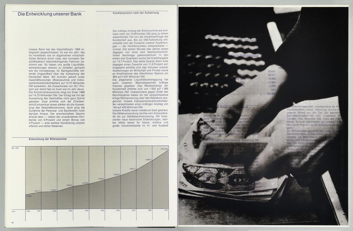 Bank für Gemeinwirtschaft. Aktiengesellschaft. Jahresbericht 1968, S. 16-17 -