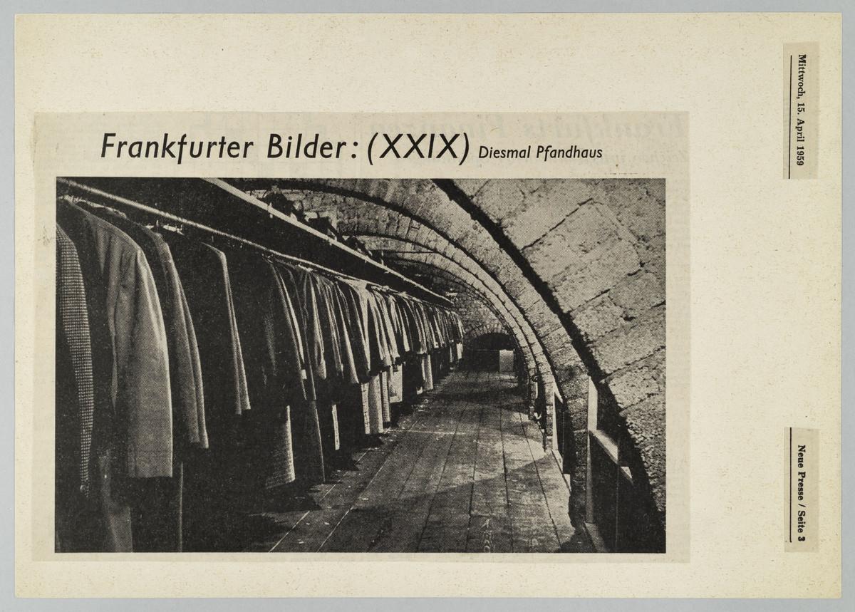 Frankfurter Neue Presse, 15.04.1959, S. 3 (Zeitungsausschnitt) -
