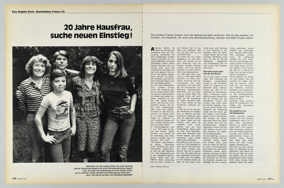 Brigitte, Heft 23, 3. November 1977, S. 216-217 -