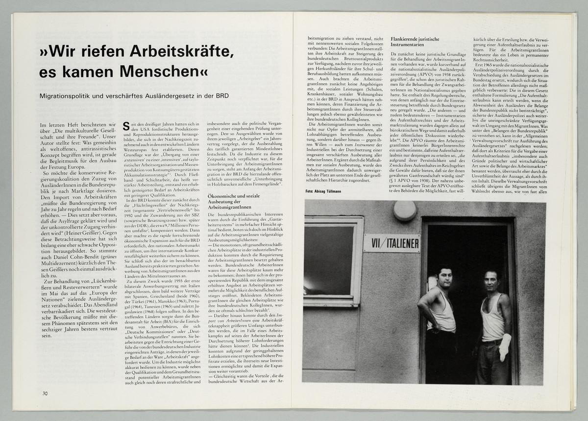 diskus. Frankfurter StudentInnenzeitung, 39. Jahrgang, Heft 3, Juli 1990, S. 30-31 -