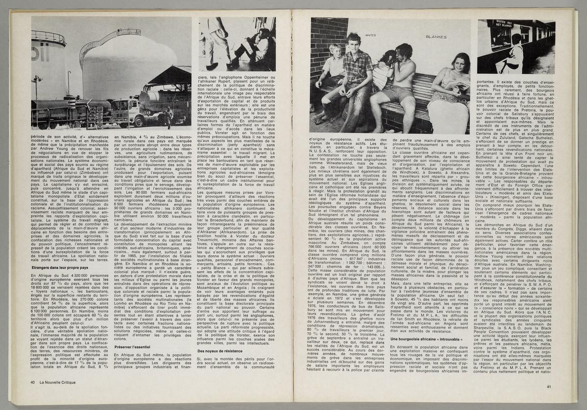 La Nouvelle Critique. Politique, marxisme, culture, Heft 102, März 1977, S. 40-41 -