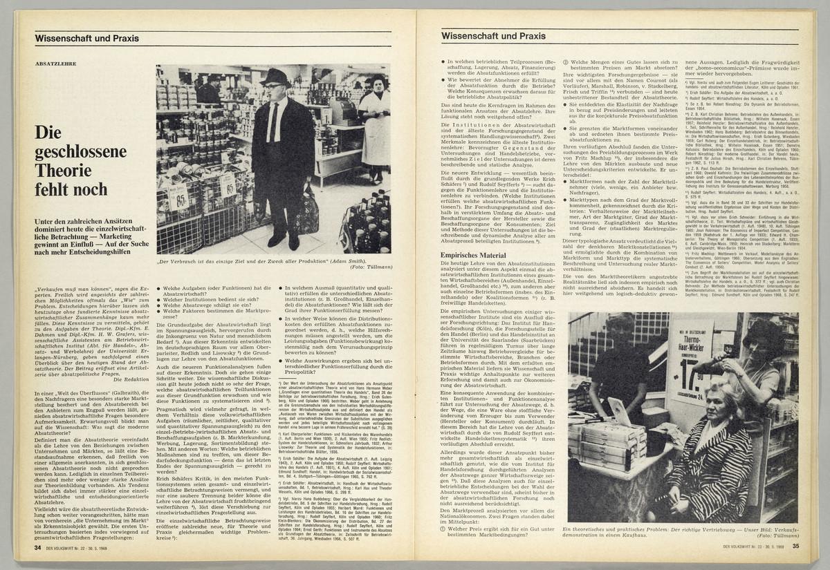 Der Volkswirt. Wirtschafts- und Finanz-Zeitung, 23 Jahrgang, Heft 22, 30. Mai 1969 -