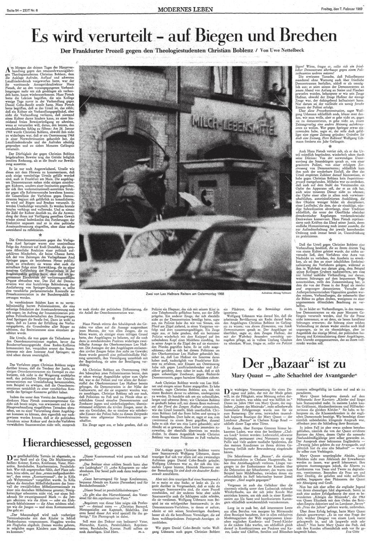 ZEIT, Nr. 6, 07. Februar 1969, S. 54 -