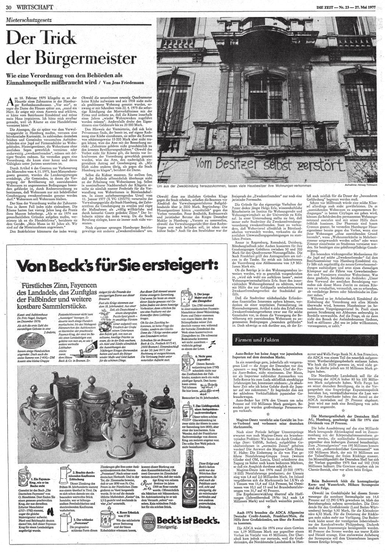 ZEIT, Nr. 23, 27. Mai 1977, S. 30 -